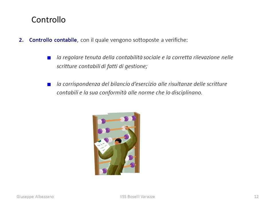 Controllo Controllo contabile, con il quale vengono sottoposte a verifiche:
