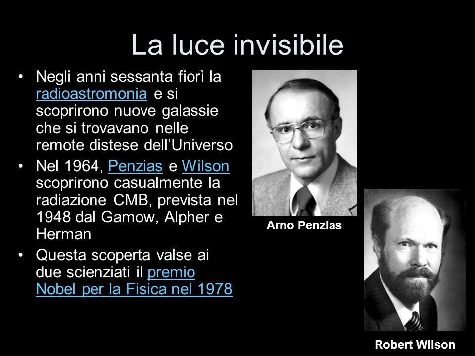 La luce invisibile Negli anni sessanta fiorì la radioastromonia e si scoprirono nuove galassie che si trovavano nelle remote distese dell'Universo.