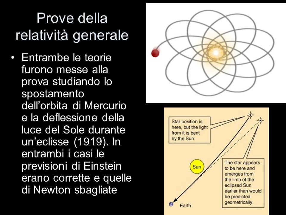 Prove della relatività generale