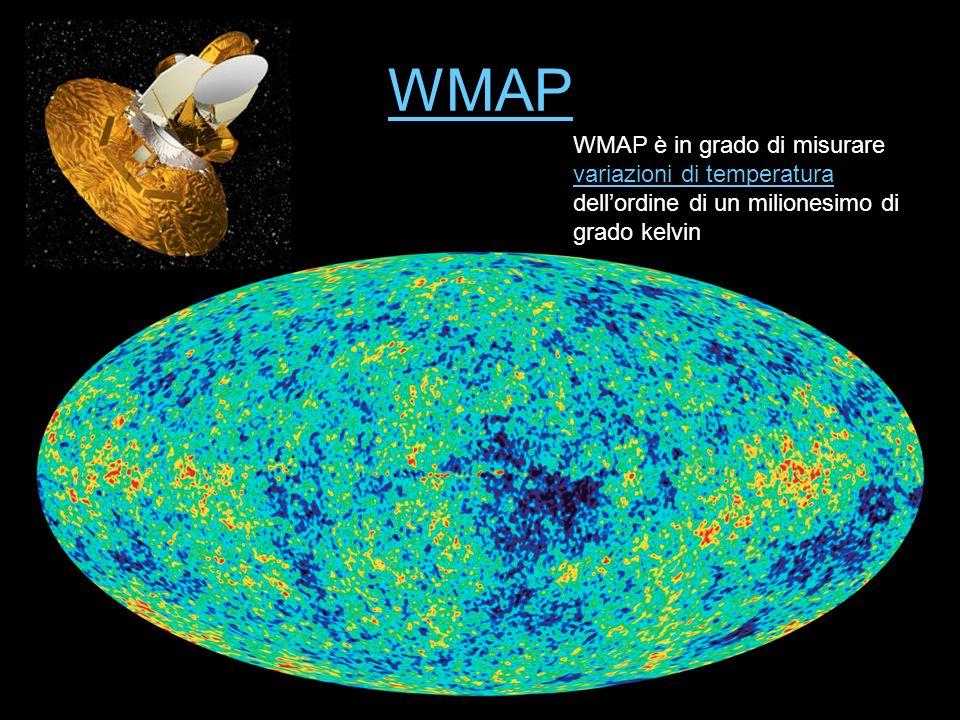 WMAP WMAP è in grado di misurare variazioni di temperatura dell'ordine di un milionesimo di grado kelvin.