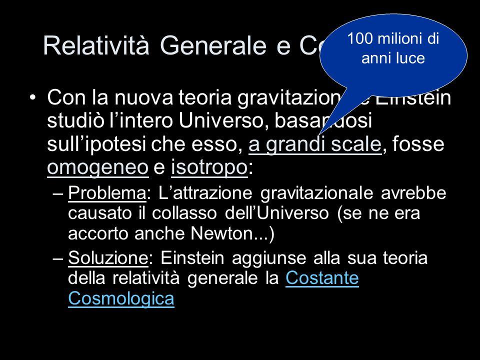 Relatività Generale e Cosmologia