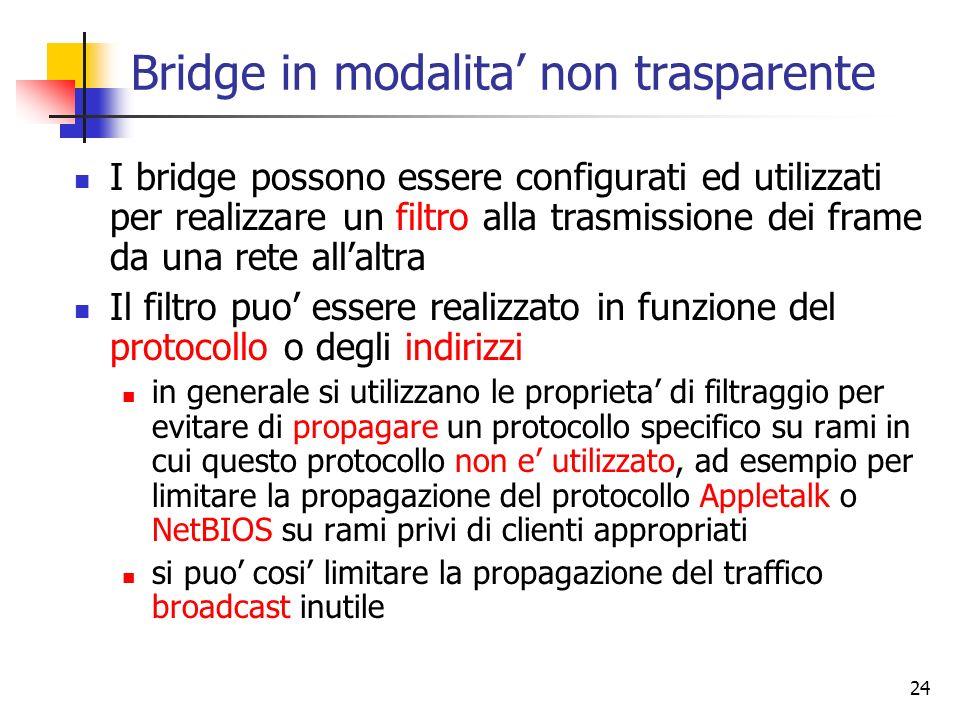 Bridge in modalita' non trasparente
