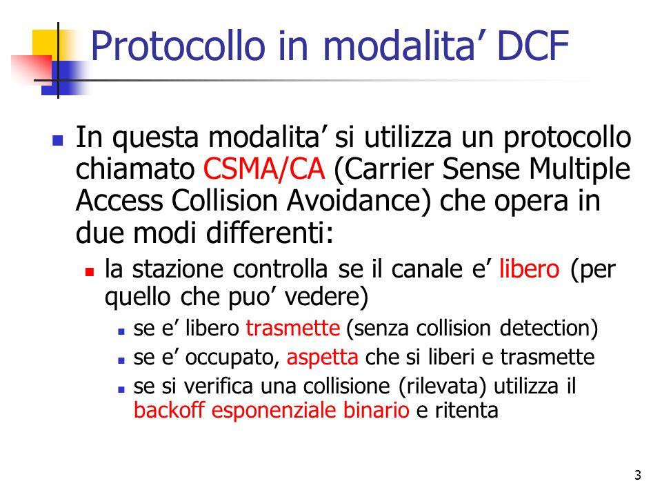 Protocollo in modalita' DCF