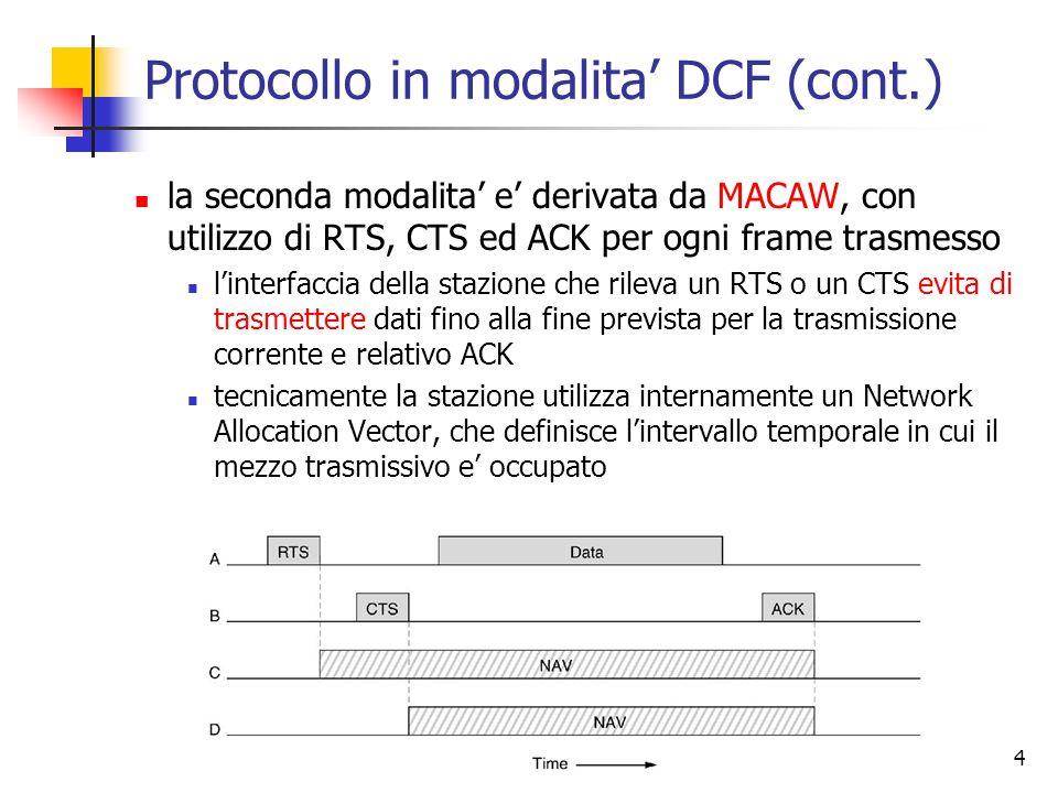 Protocollo in modalita' DCF (cont.)