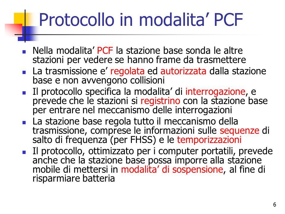 Protocollo in modalita' PCF