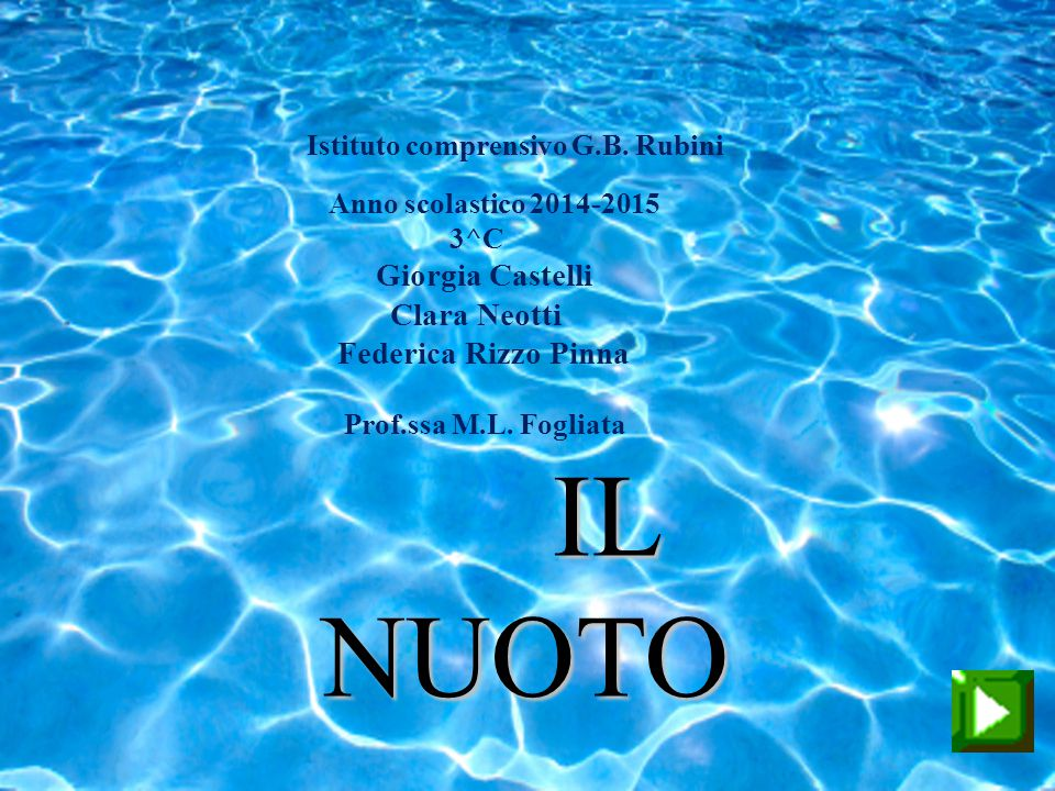 NUOTO Clara Neotti Federica Rizzo Pinna Prof.ssa M.L. Fogliata IL