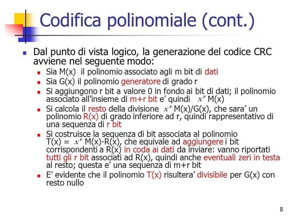 Codifica polinomiale (cont.)