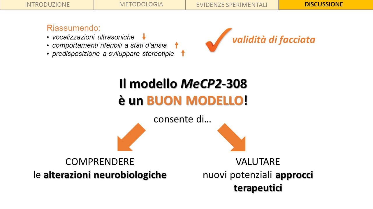 Il modello MeCP2-308 è un BUON MODELLO!