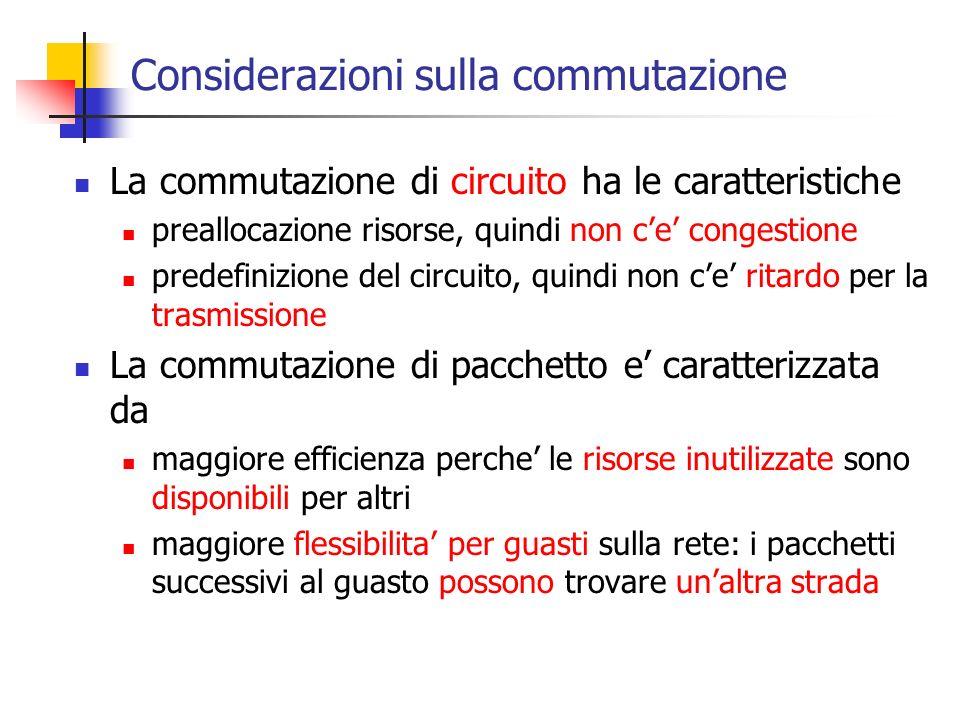 Considerazioni sulla commutazione