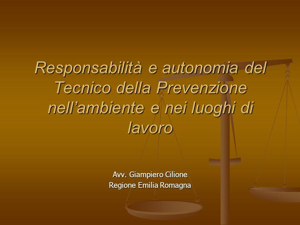 Avv. Giampiero Cilione Regione Emilia Romagna