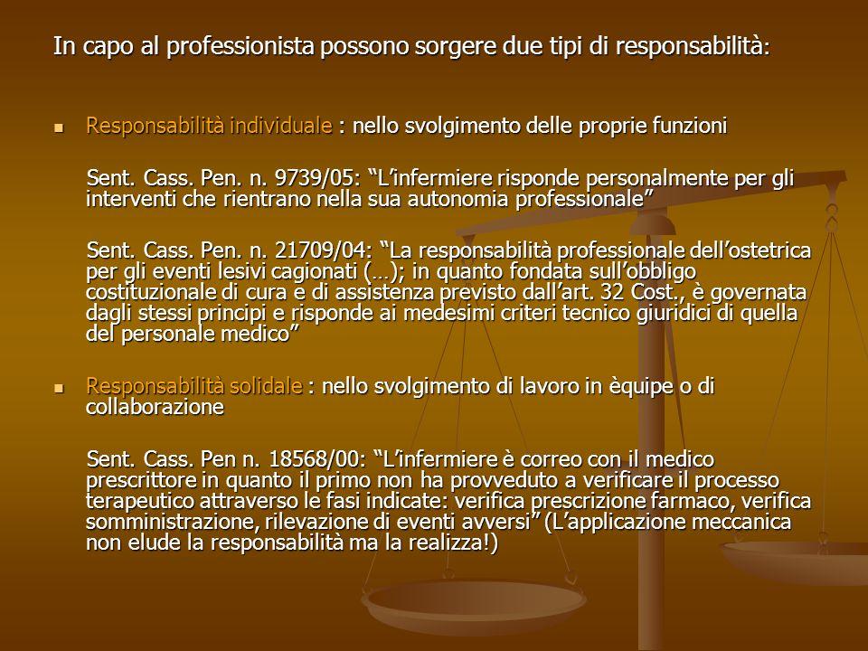 In capo al professionista possono sorgere due tipi di responsabilità: