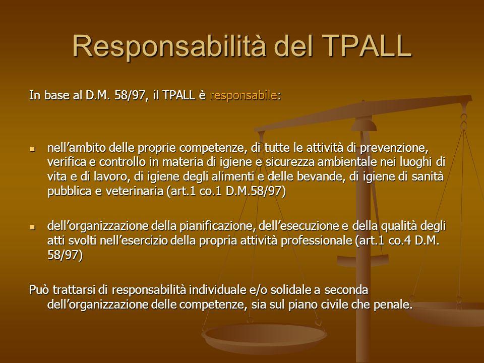 Responsabilità del TPALL
