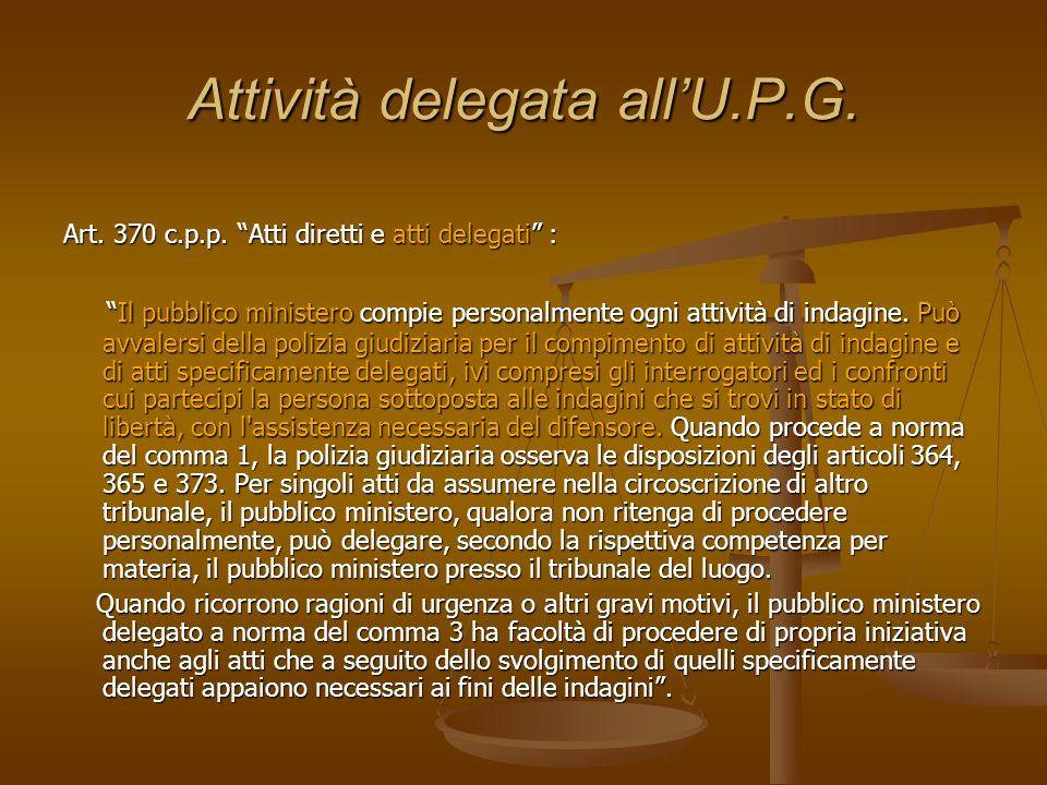 Attività delegata all'U.P.G.