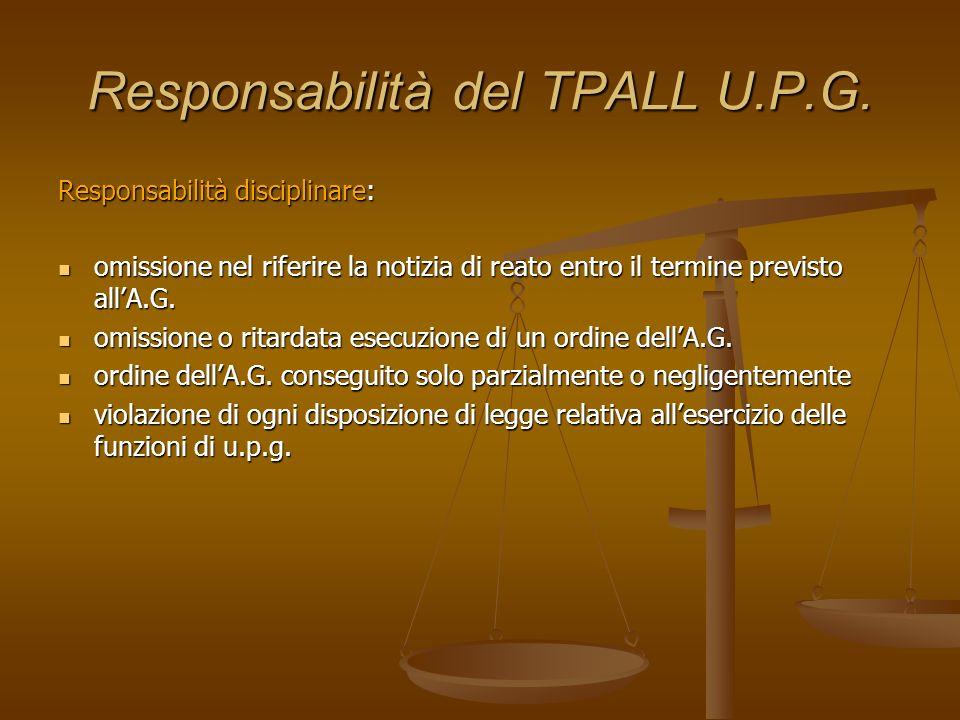 Responsabilità del TPALL U.P.G.