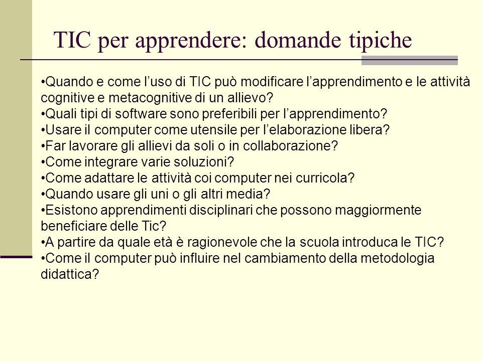 TIC per apprendere: domande tipiche