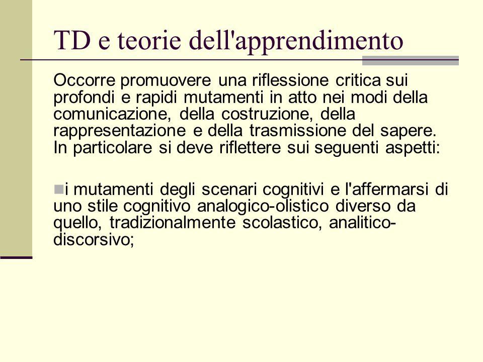TD e teorie dell apprendimento