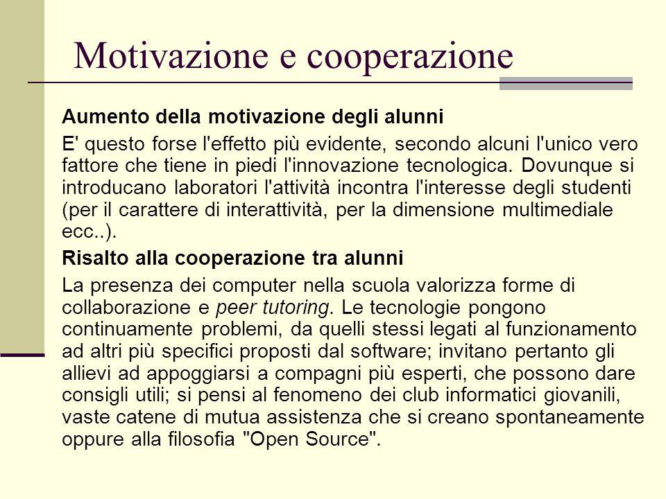 Motivazione e cooperazione