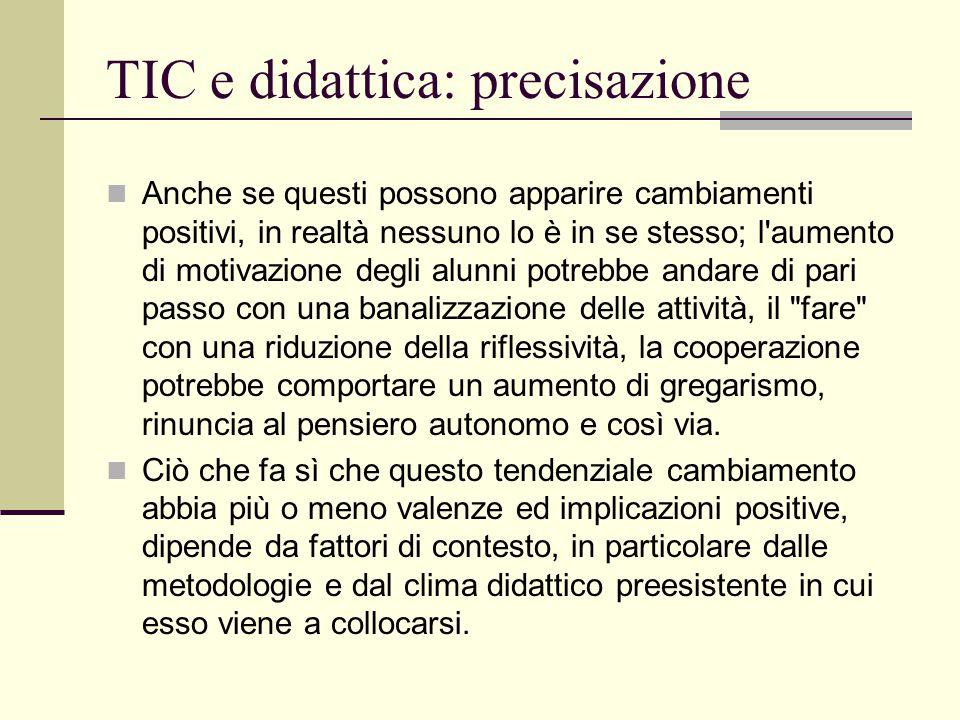 TIC e didattica: precisazione