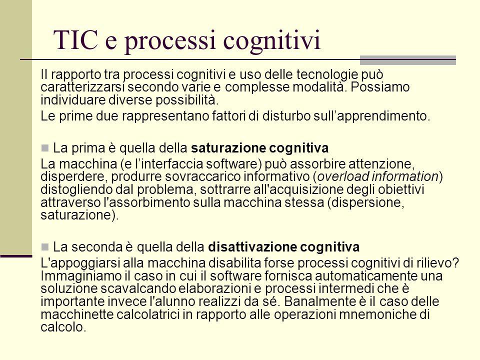 TIC e processi cognitivi