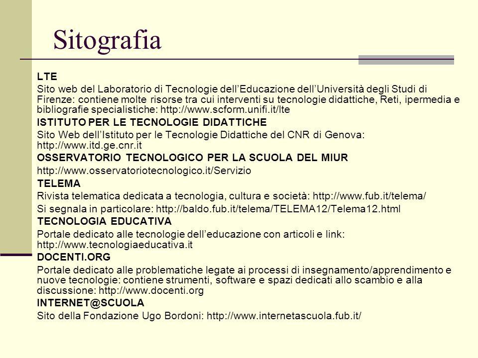 Sitografia LTE.