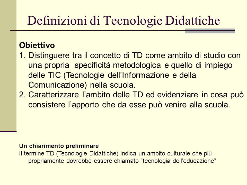 Definizioni di Tecnologie Didattiche
