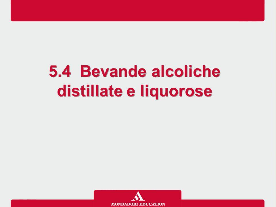 5.4 Bevande alcoliche distillate e liquorose