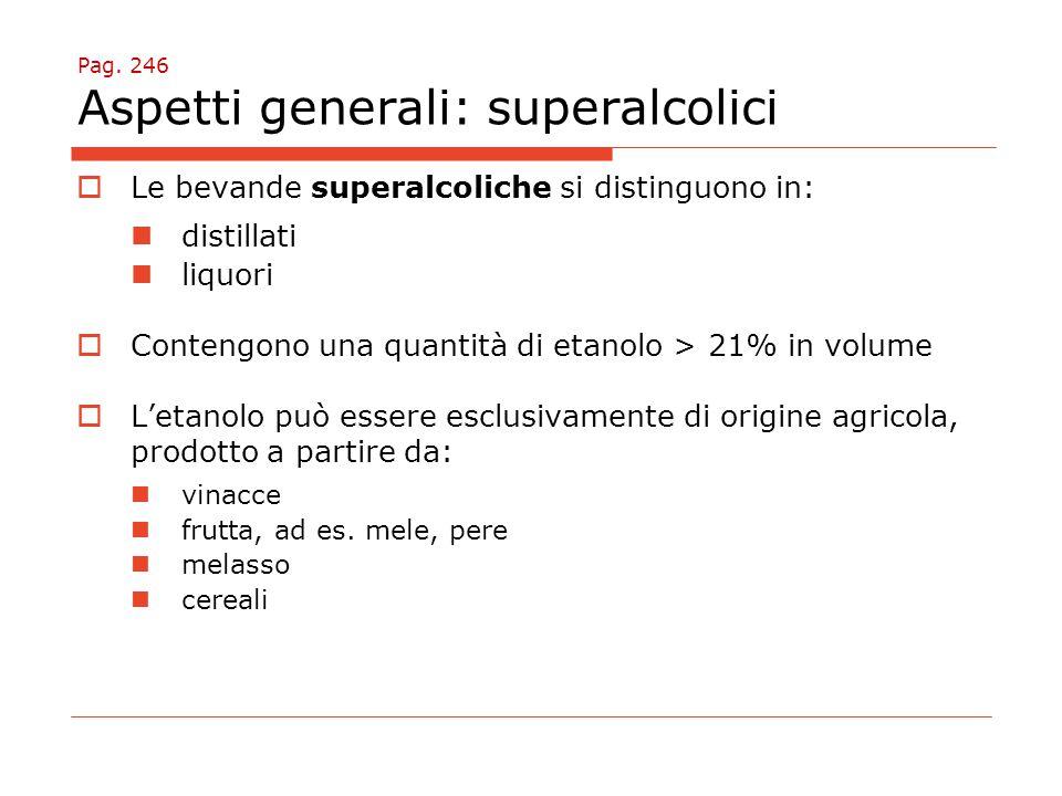Pag. 246 Aspetti generali: superalcolici