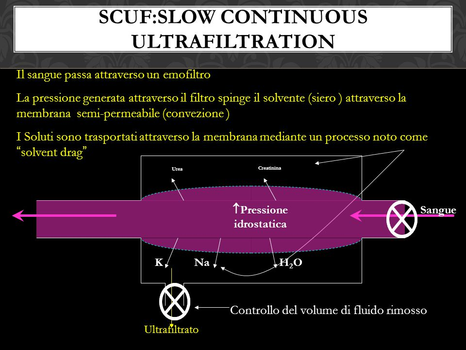 SCUF:Slow Continuous Ultrafiltration