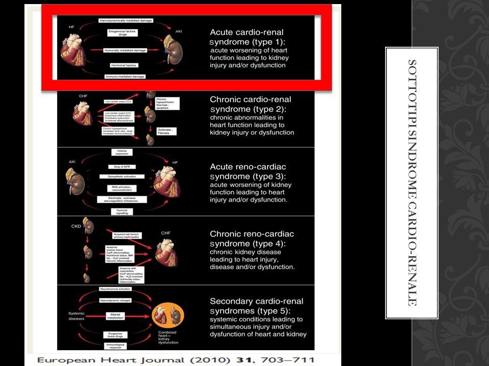 Sottotipi sindrome cardio-renale
