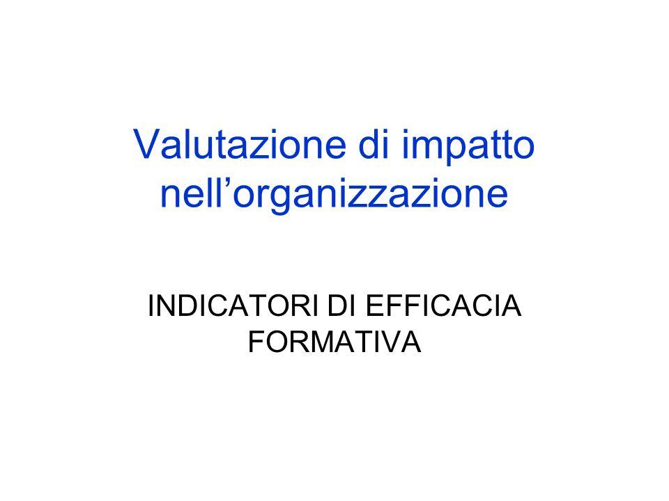 Valutazione di impatto nell'organizzazione