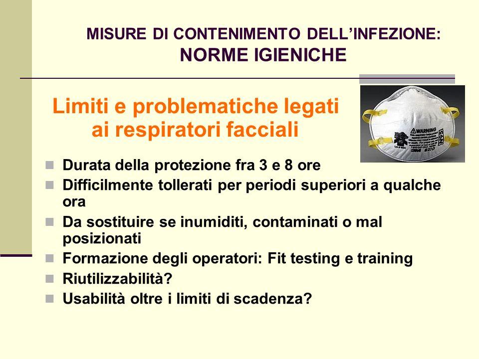 MISURE DI CONTENIMENTO DELL'INFEZIONE: NORME IGIENICHE