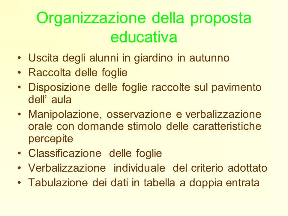 Organizzazione della proposta educativa