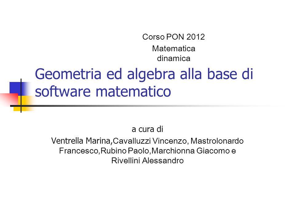 Geometria ed algebra alla base di software matematico