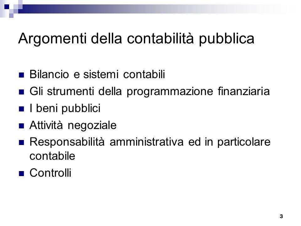 Argomenti della contabilità pubblica