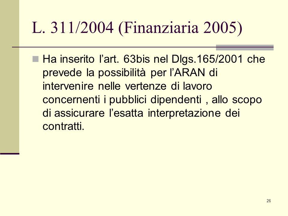 L. 311/2004 (Finanziaria 2005)