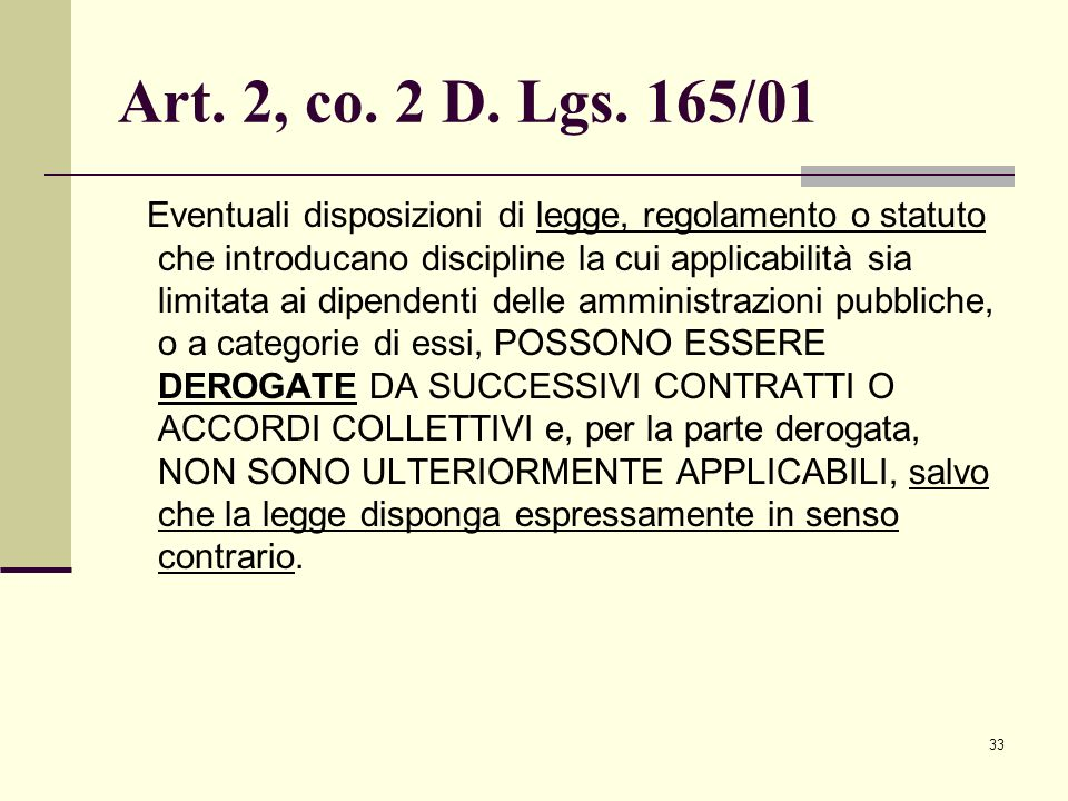 Art. 2, co. 2 D. Lgs. 165/01