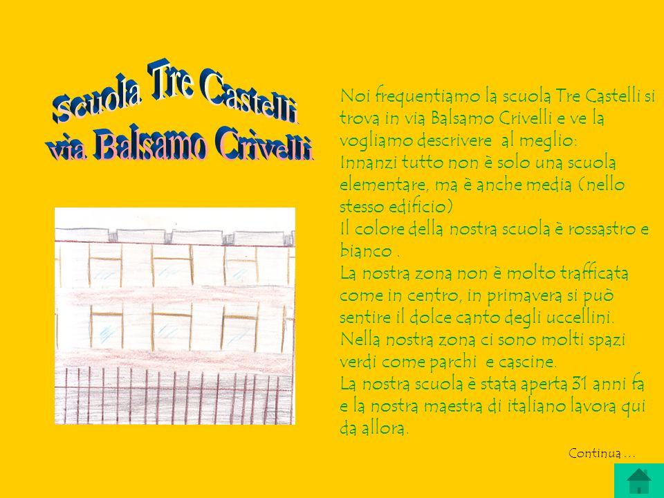 Scuola Tre Castelli via Balsamo Crivelli