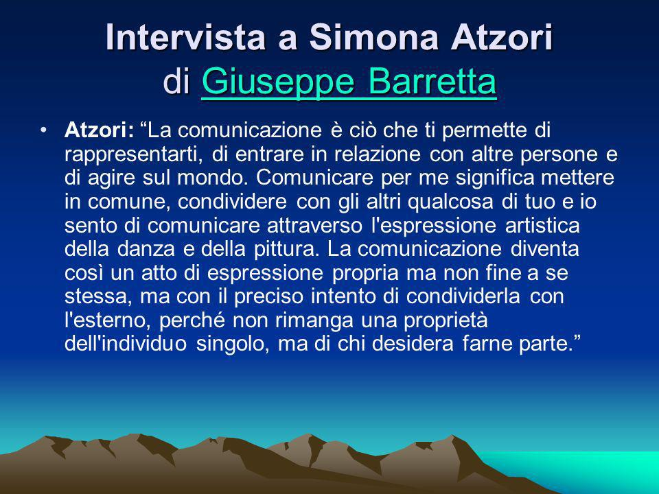 Intervista a Simona Atzori di Giuseppe Barretta