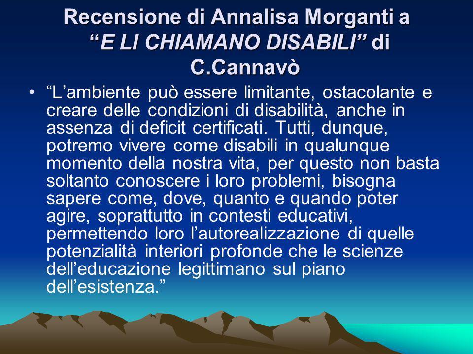 Recensione di Annalisa Morganti a E LI CHIAMANO DISABILI di C