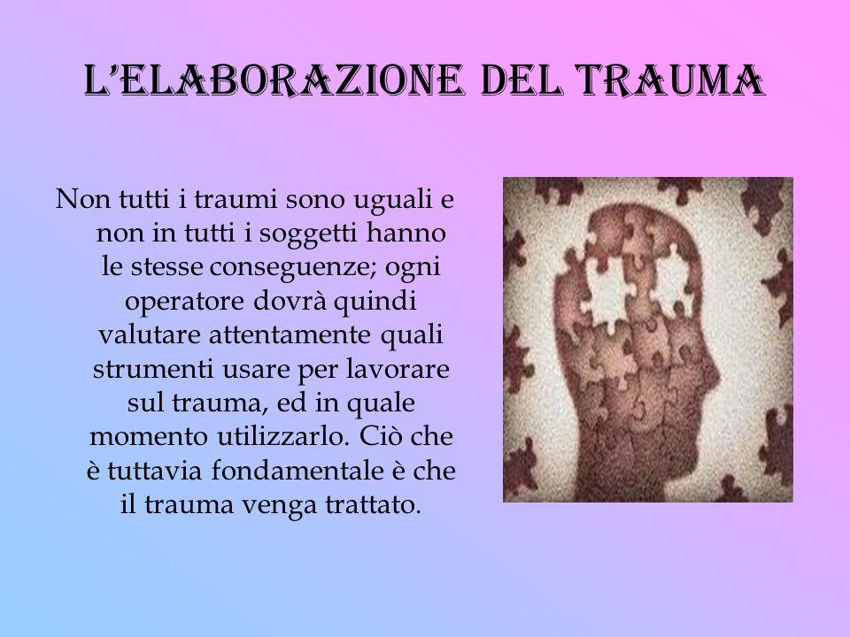 l'elaborazione del trauma