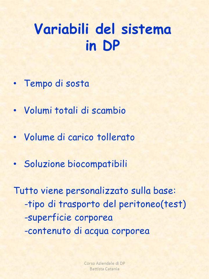 Variabili del sistema in DP
