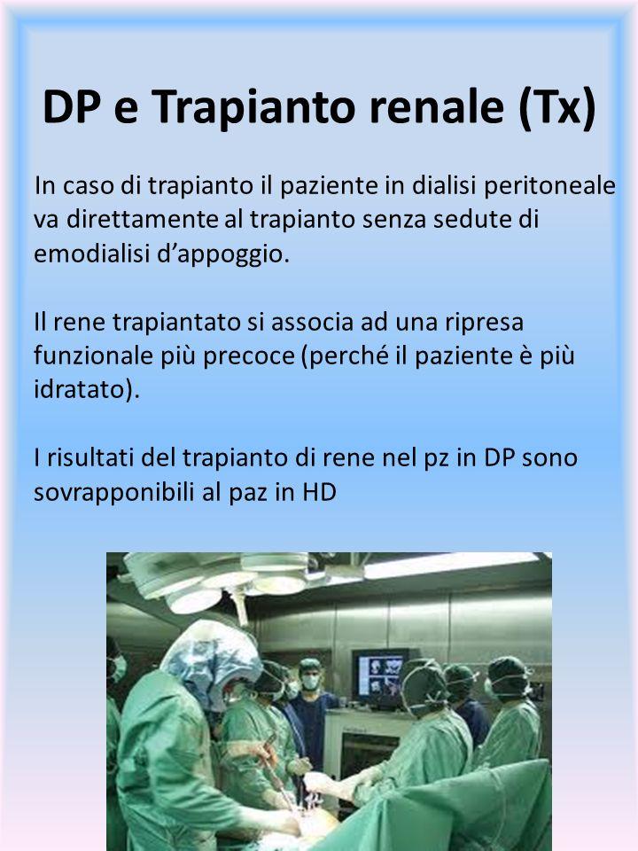 DP e Trapianto renale (Tx)