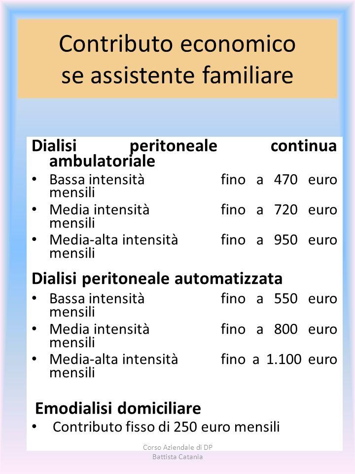 Contributo economico se assistente familiare