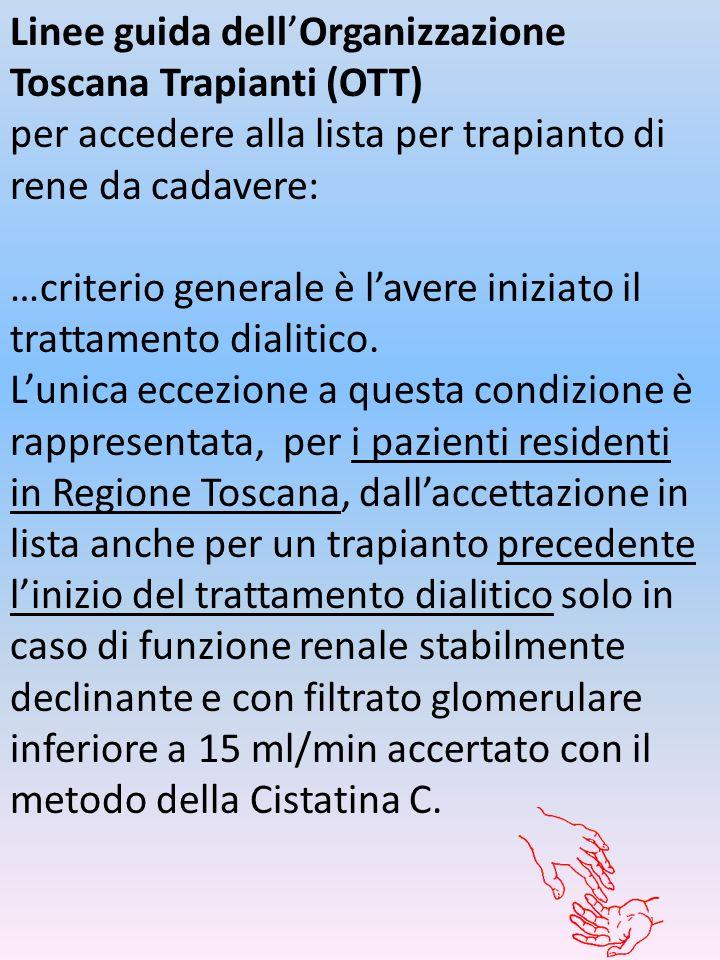 Linee guida dell'Organizzazione Toscana Trapianti (OTT)