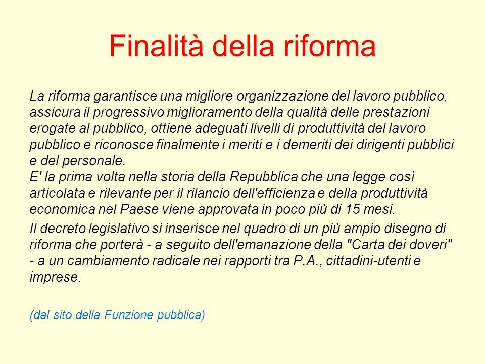 Finalità della riforma