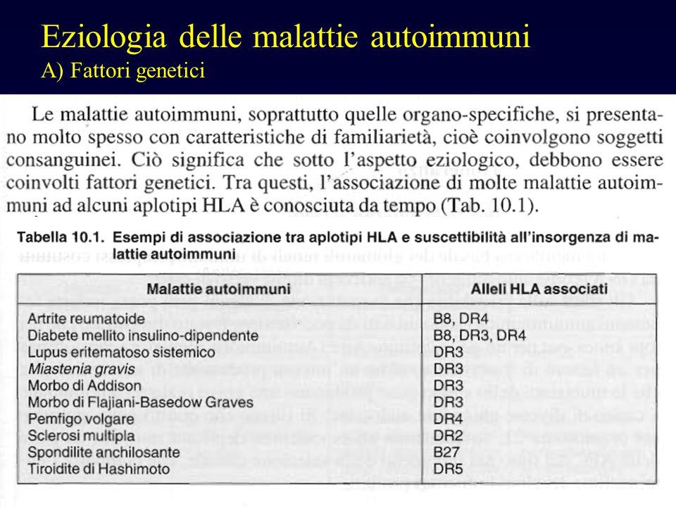 Eziologia delle malattie autoimmuni