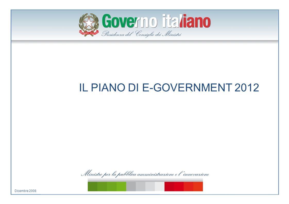 IL PIANO DI E-GOVERNMENT 2012