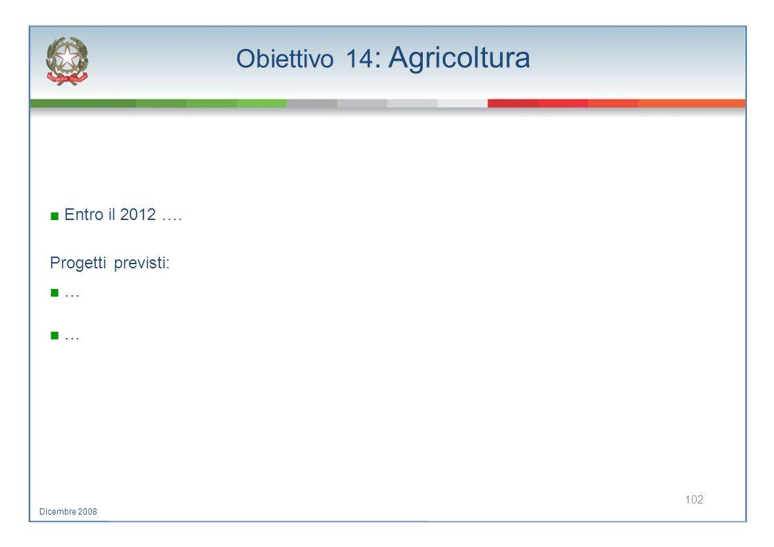 Obiettivo 14: Agricoltura