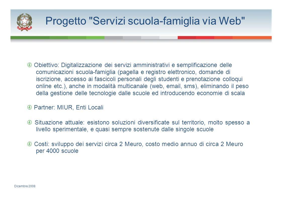 Progetto Servizi scuola-famiglia via Web