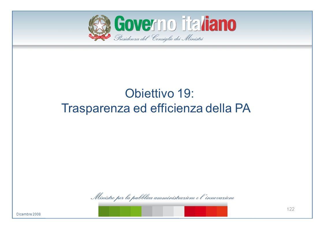 Trasparenza ed efficienza della PA